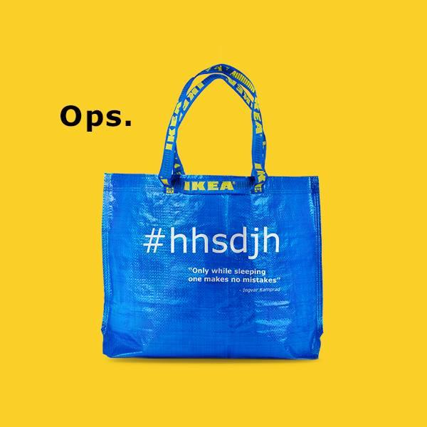 Borsa blu Ikea #hhsdjh in edizione limitata