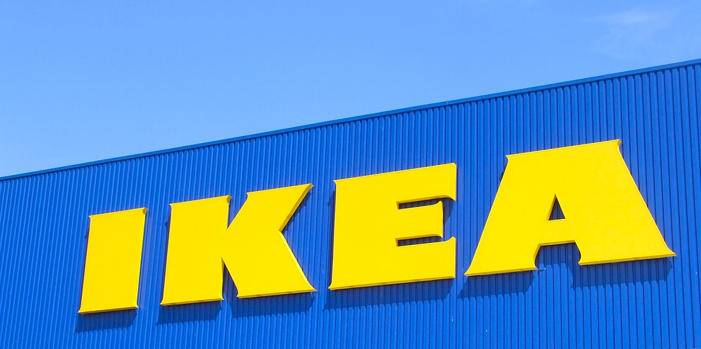 Insegna Ikea giallo/blu