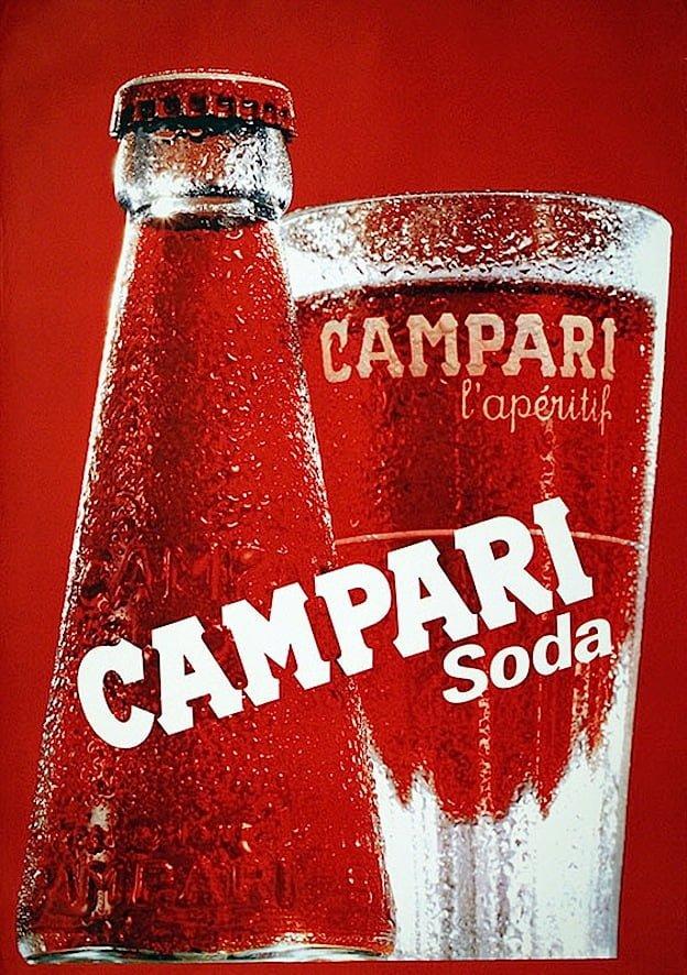 bottiglia campari soda senza etichetta