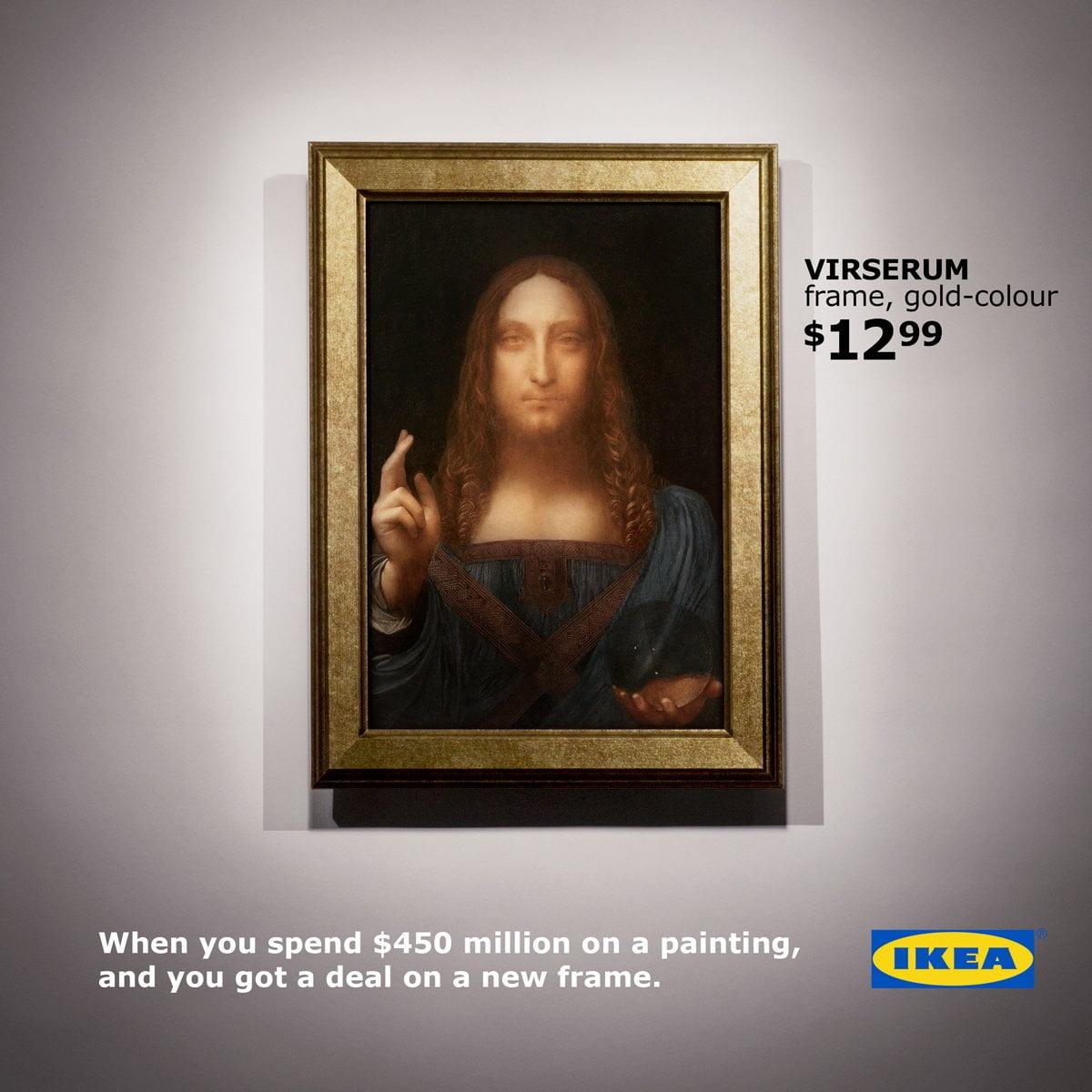 Ikea Salvator Mundi