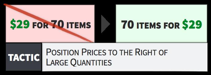 prezzi a sinistra