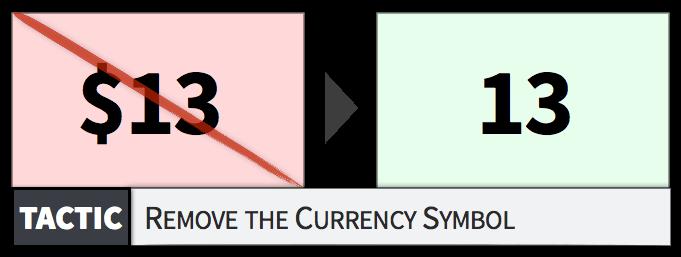 togliere valuta