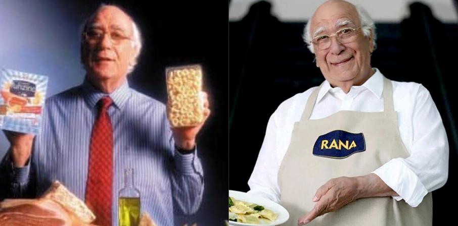 Giovanni Rana ieri e oggi
