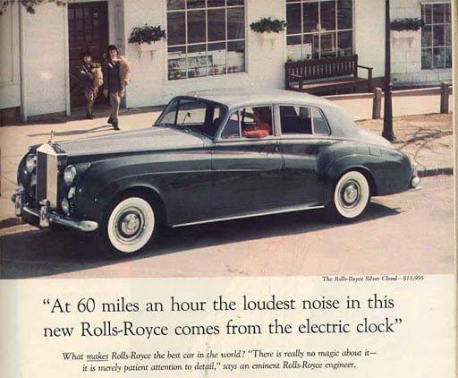 Annuncio Rolls-Royce ogilvy