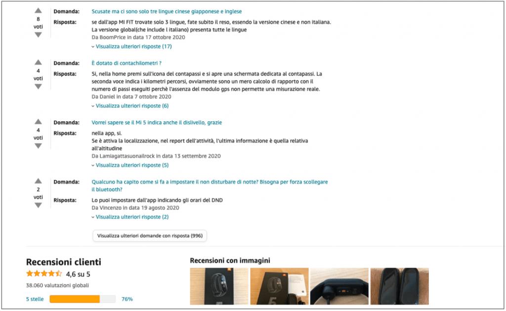 Amazon social proof - SmarTalks