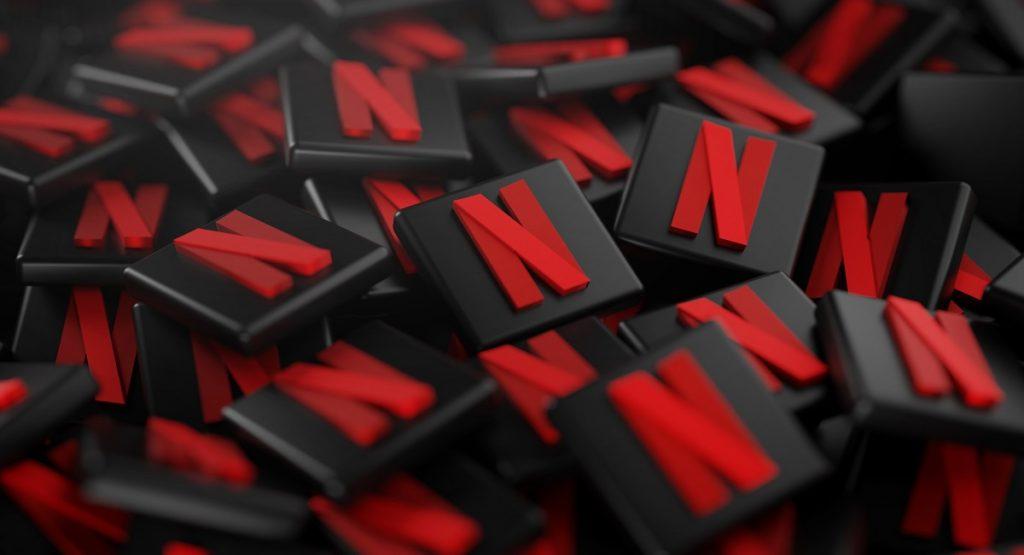 Pile of 3D Netflix Logos