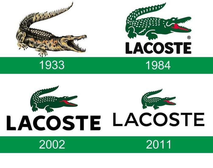 Evoluzione del logo Lacoste