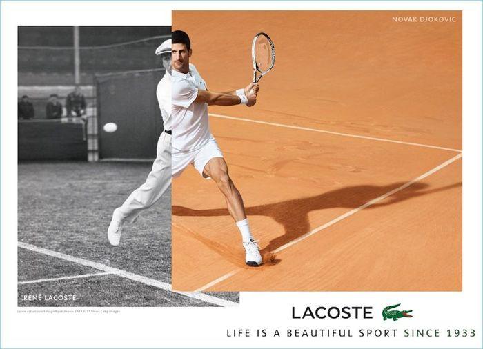 René Lacoste e Novak Djokovic