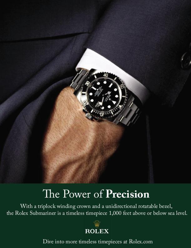 The power of precision - Rolex